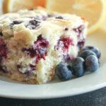 Lemon Blueberry Breakfast Cake Recipe