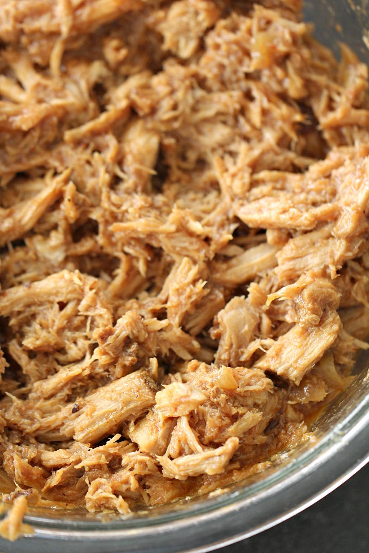 BBQ Pulled Pork shredded in Slow Cooker