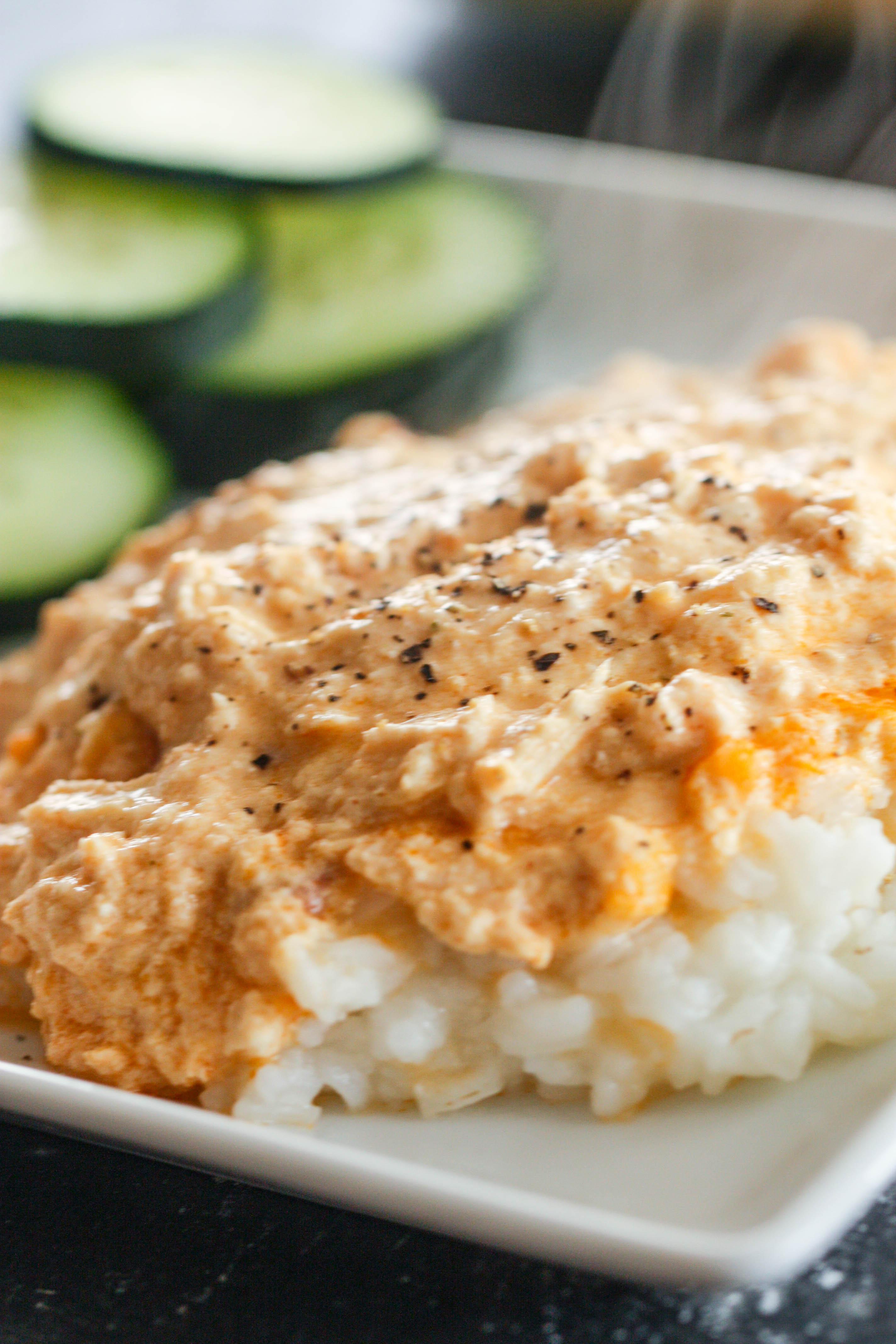 Creamy Buffalo Chicken Casserole