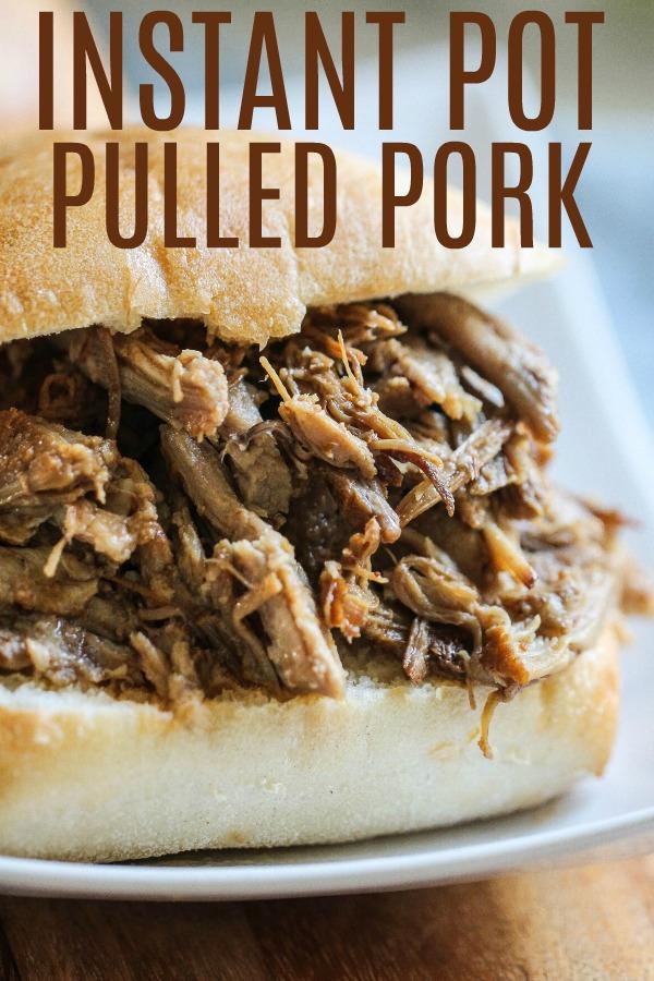 Instant Pot Dr. Pepper Pulled Pork Sandwich