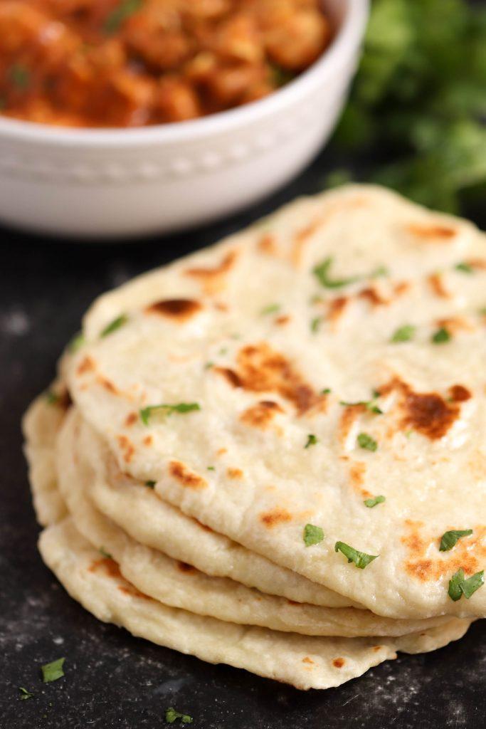 Easy Homemade Naan Bread   Six Sisters' Stuff