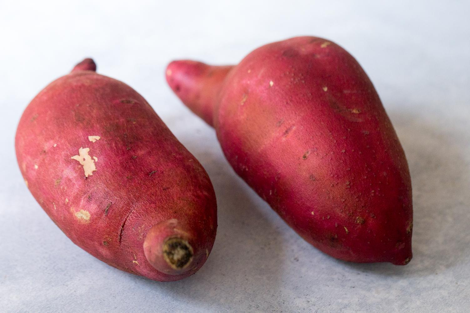 Raw sweet potatoes