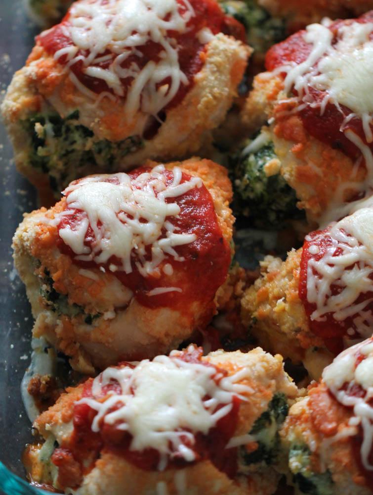 Spinach & Cheese Stuffed Chicken Bundles