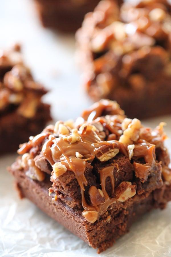 Copycat Zupa's Caramel Rockslide Brownies