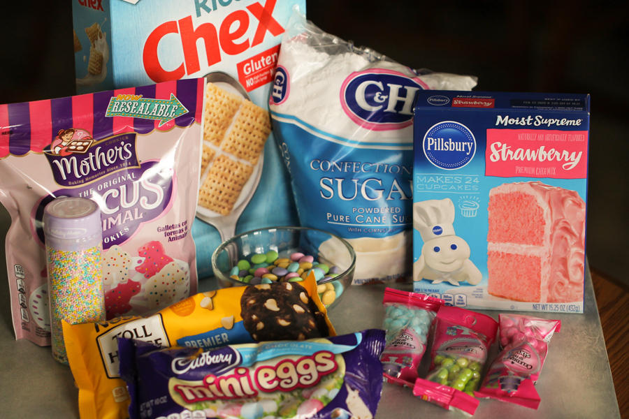 Ingredients for Easter Bunny Muddy Buddies