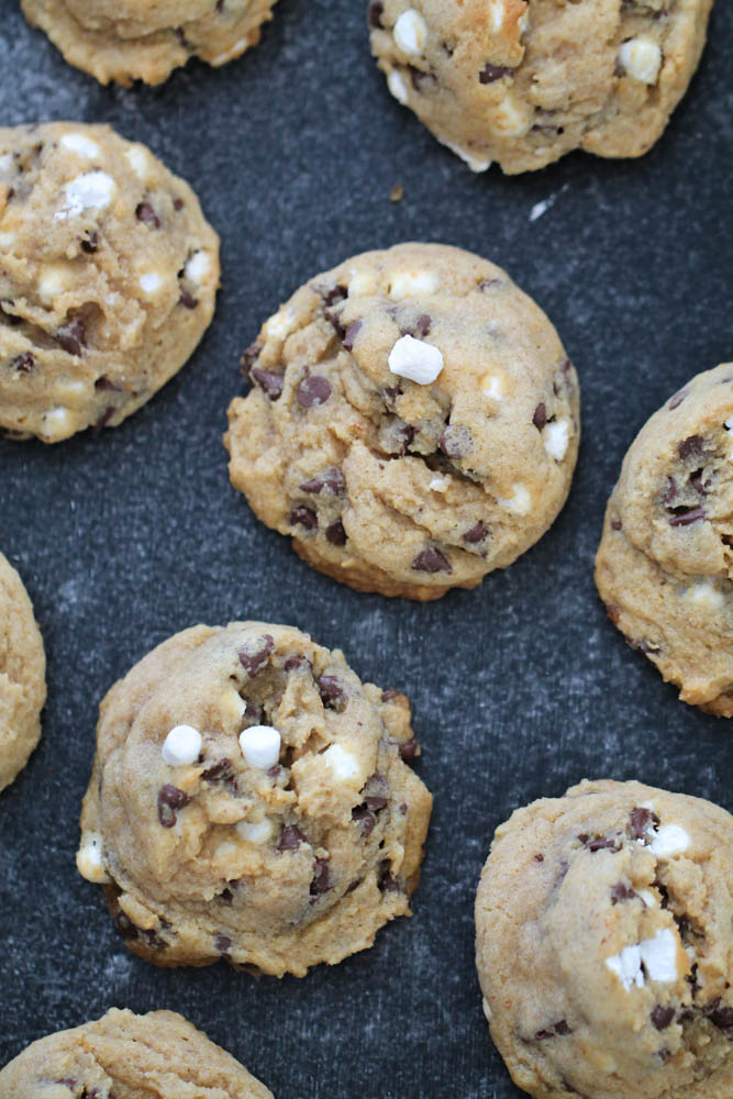 Baked S'mores Cookies