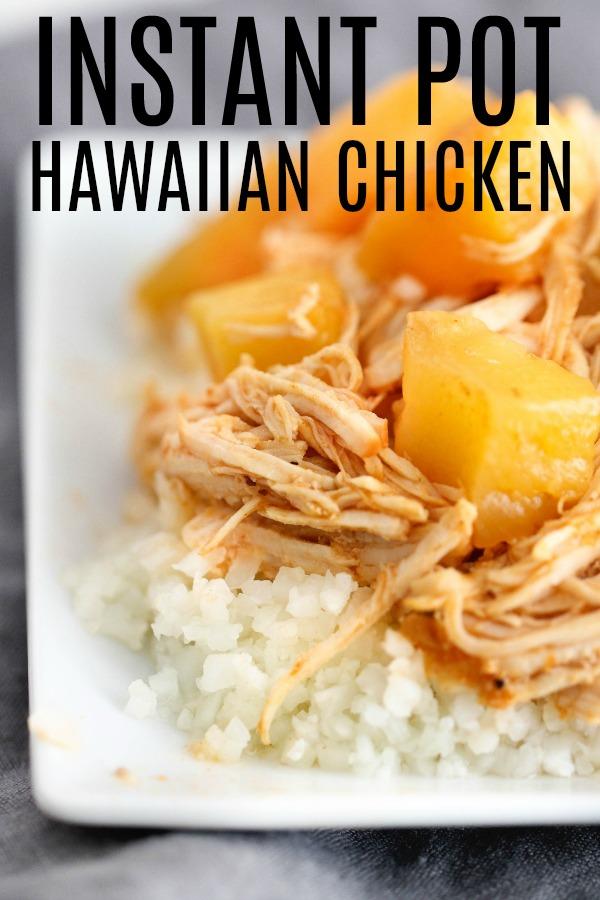 Instant Pot Hawaiian BBQ Chicken