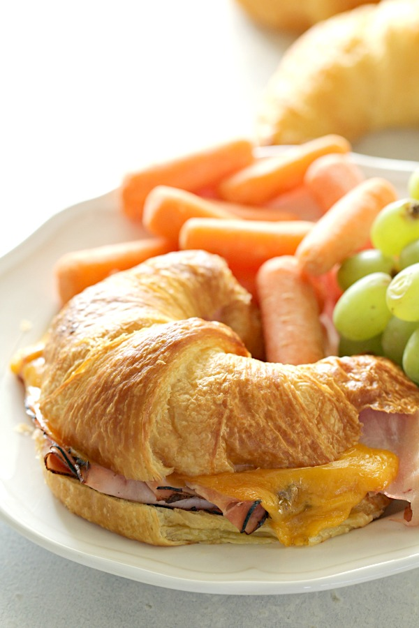 Baked Ham and Cheese Croissant Sandwiches Recipe