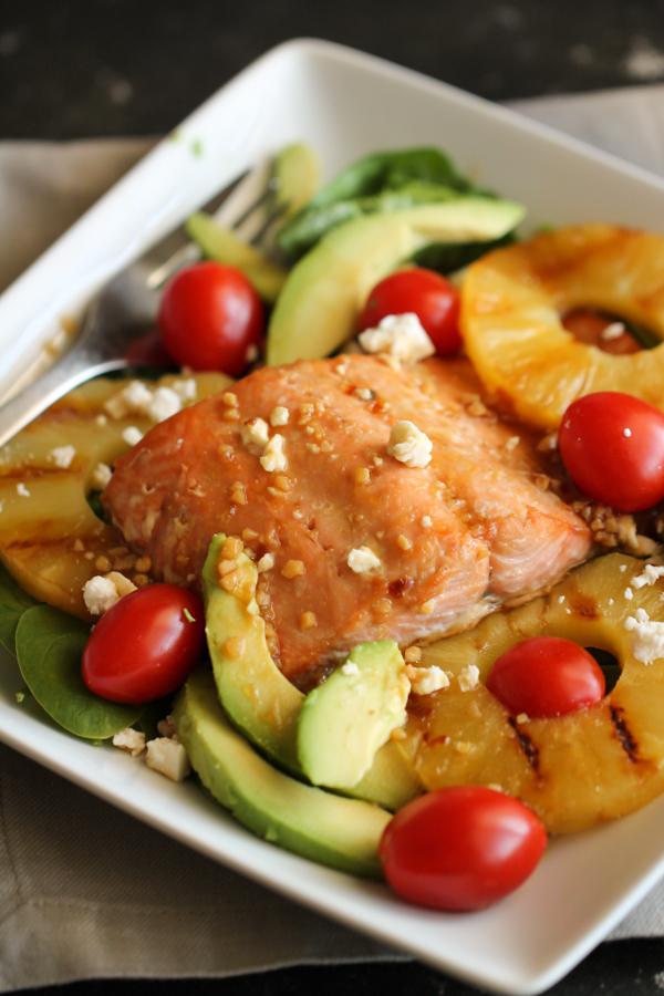 Grilled Salmon Salad Recipe Six Sisters Stuff