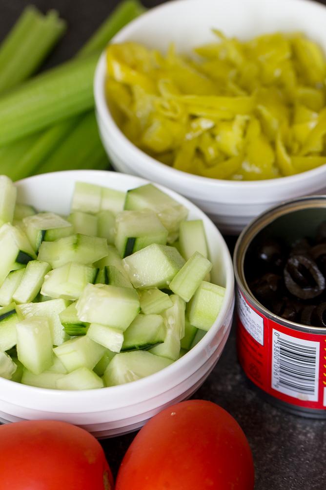 Veggie toppings for Kalua Pork