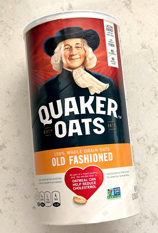 canister of old fashioned quaker oats oatmeal