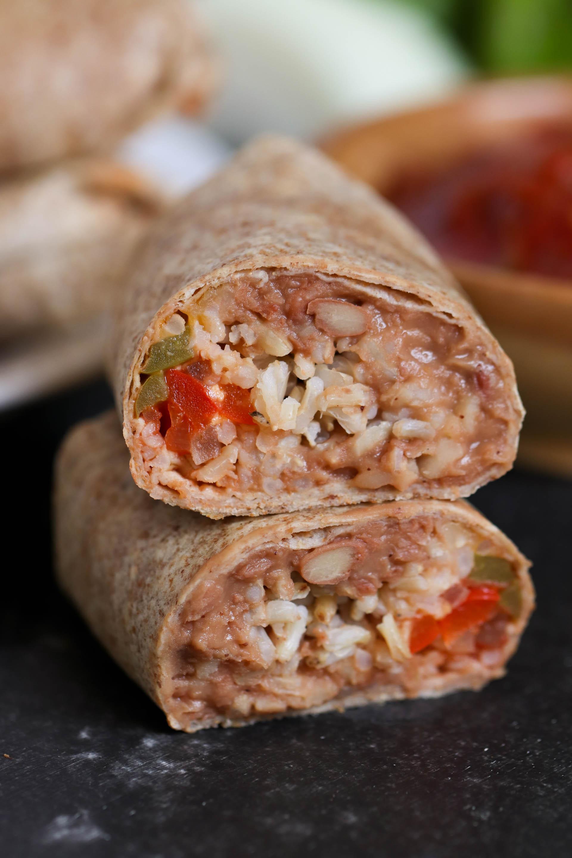 Bean and Rice Burritos (Freezer Meal)