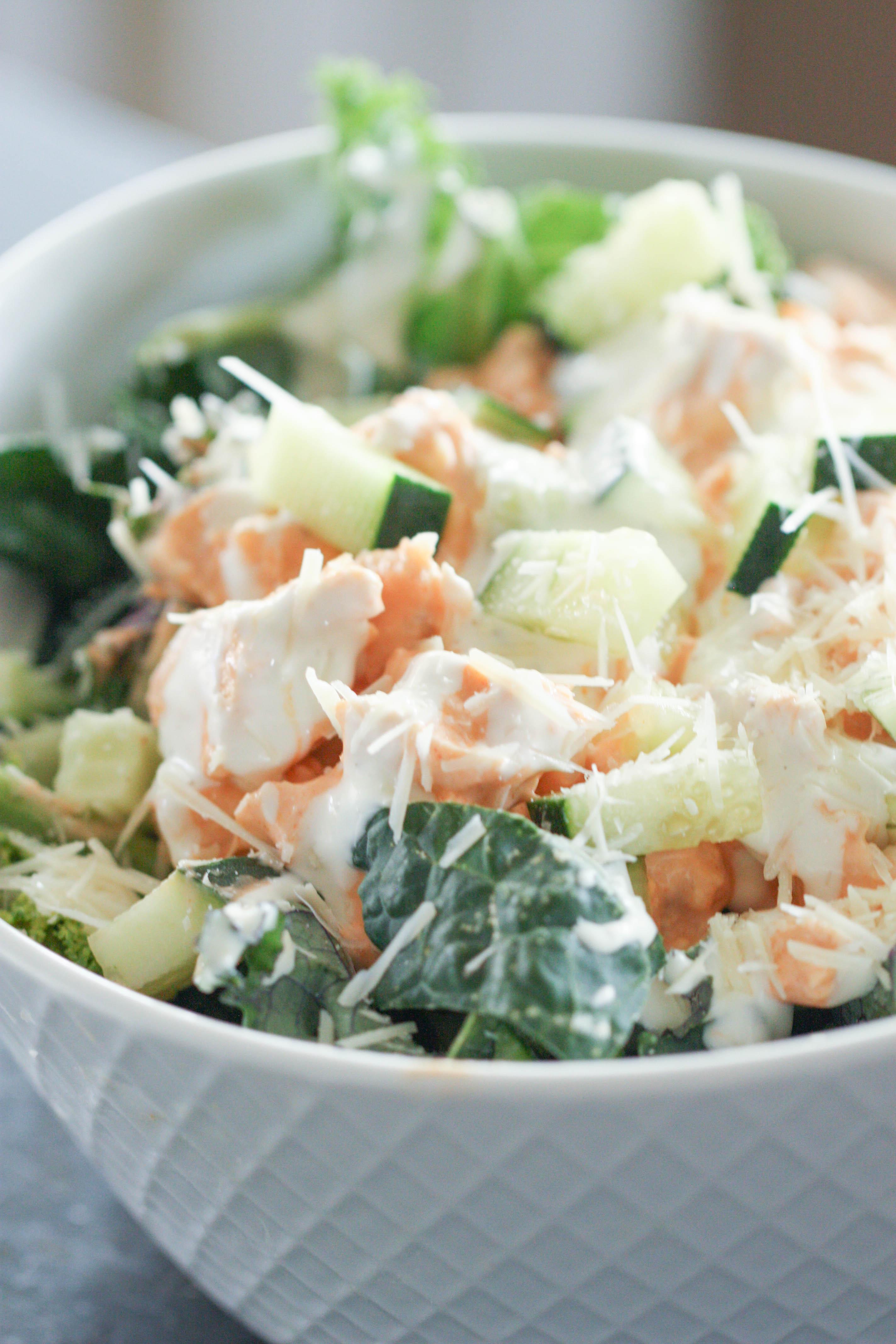 Buffalo Chicken Kale Salad Recipe