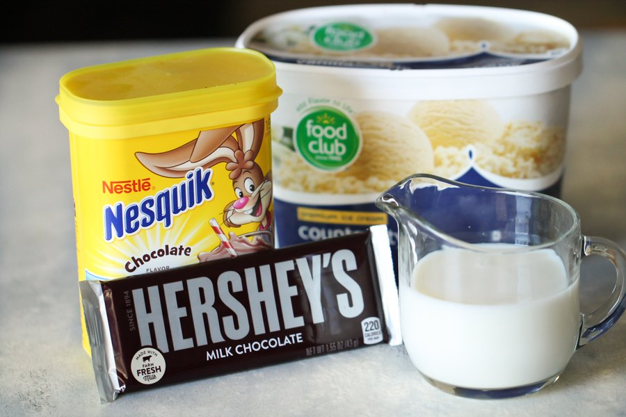Ingredients for Copycat Wendy's Chocolate Frosty Recipe