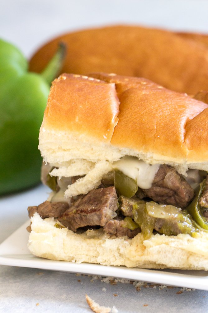 Instant Pot Philly Cheese Steak Sandwiches
