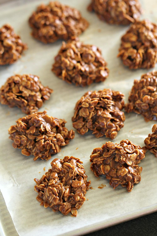 Healthier No Bake Chocolate Peanut Butter Cookies Recipe