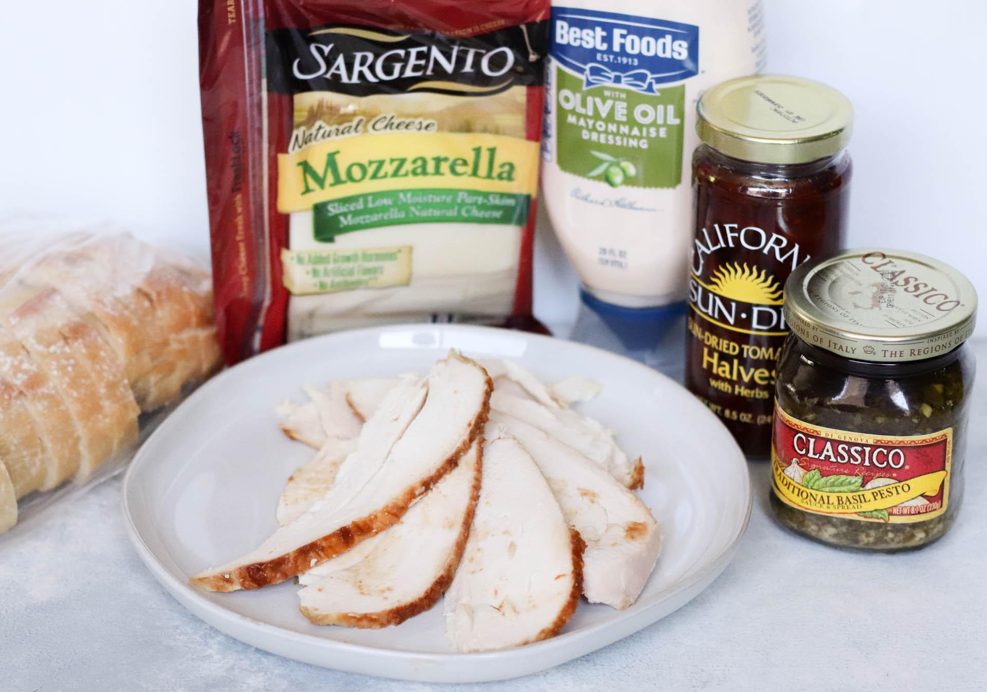 Ingredients for Pesto Chicken Sandwiches