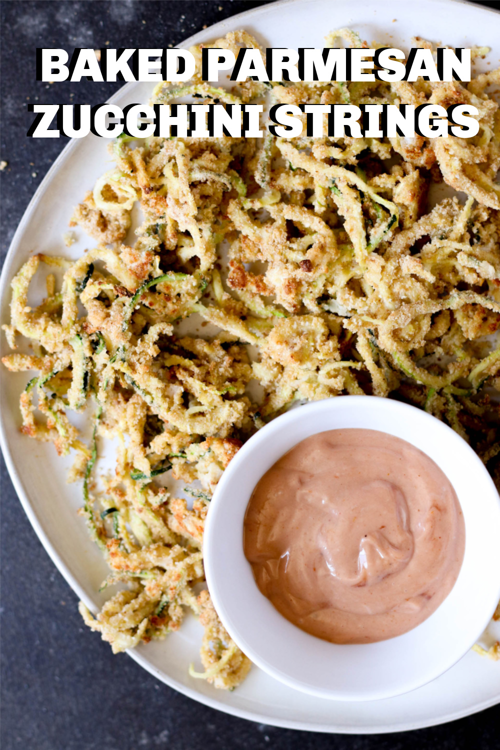 Baked Parmesan Zucchini Strings