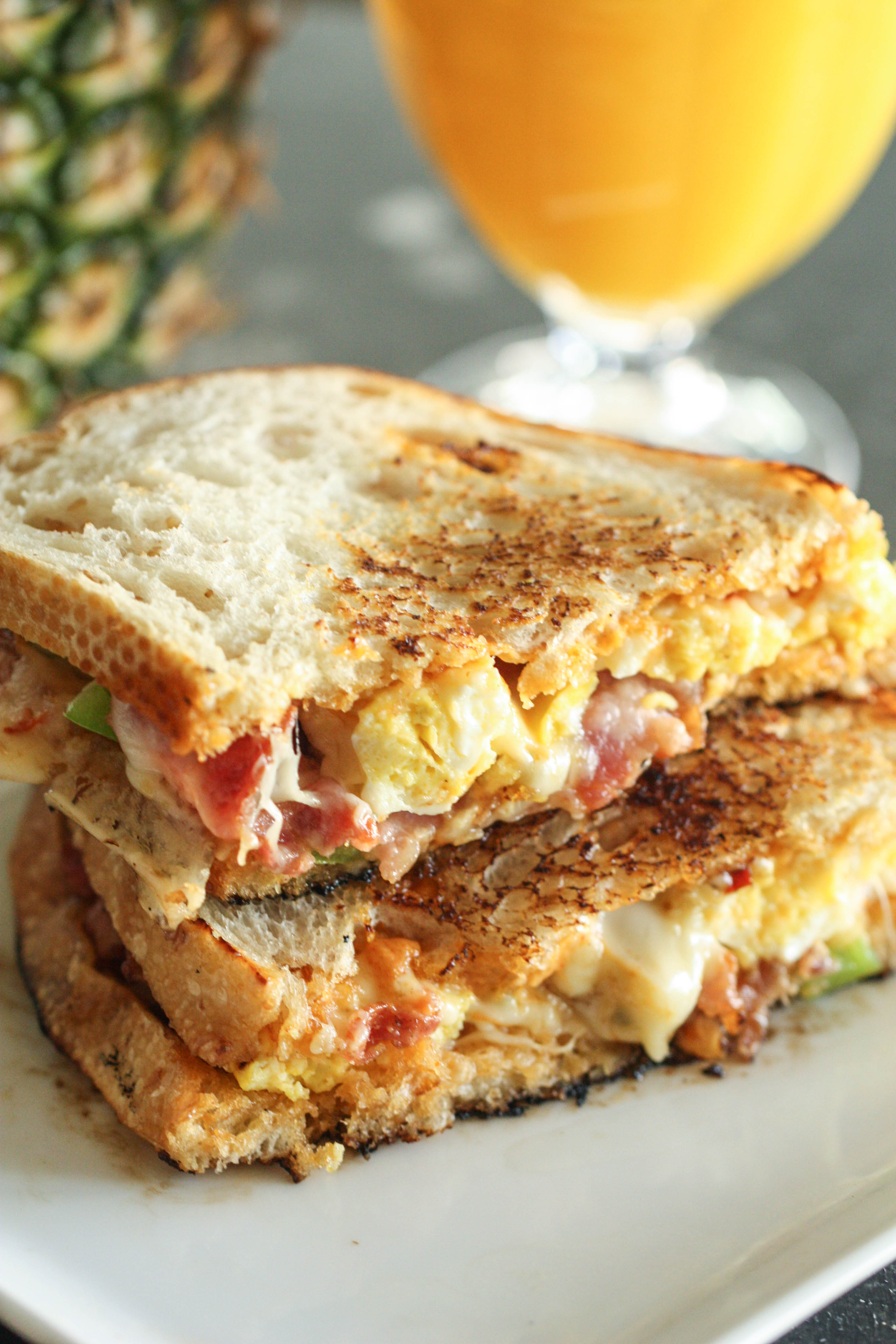 Breakfast Grilled Cheese Melt Recipe