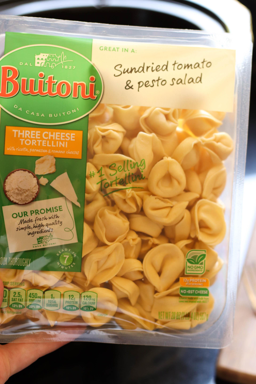 Three Cheese Tortellini Pasta in package