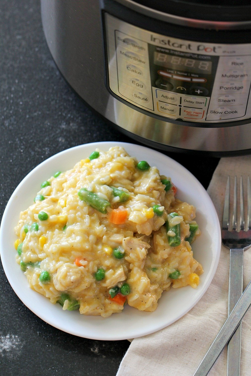 Instant Pot Cheesy Chicken And Rice Recipe