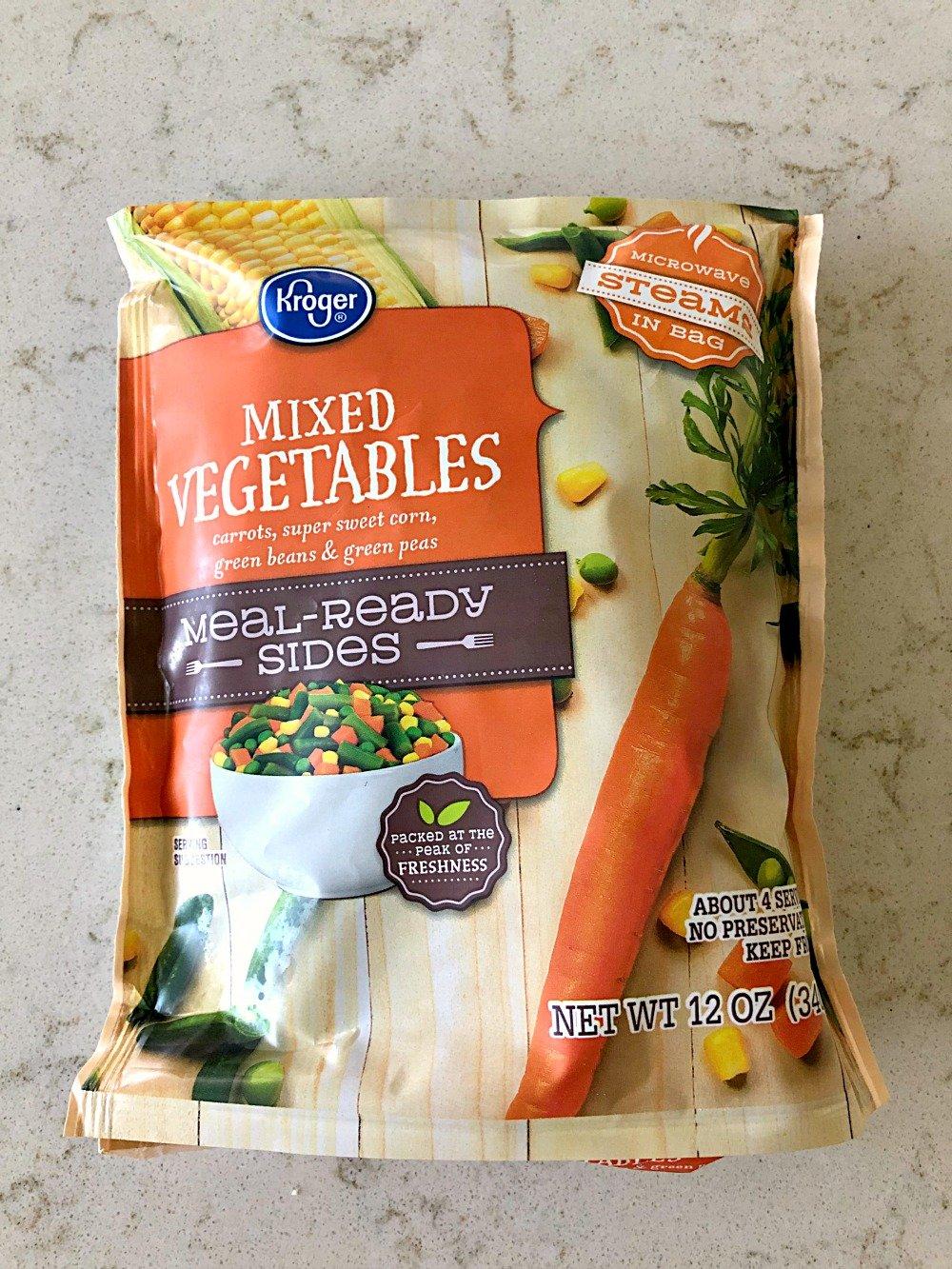 bag of frozen mixed vegetables