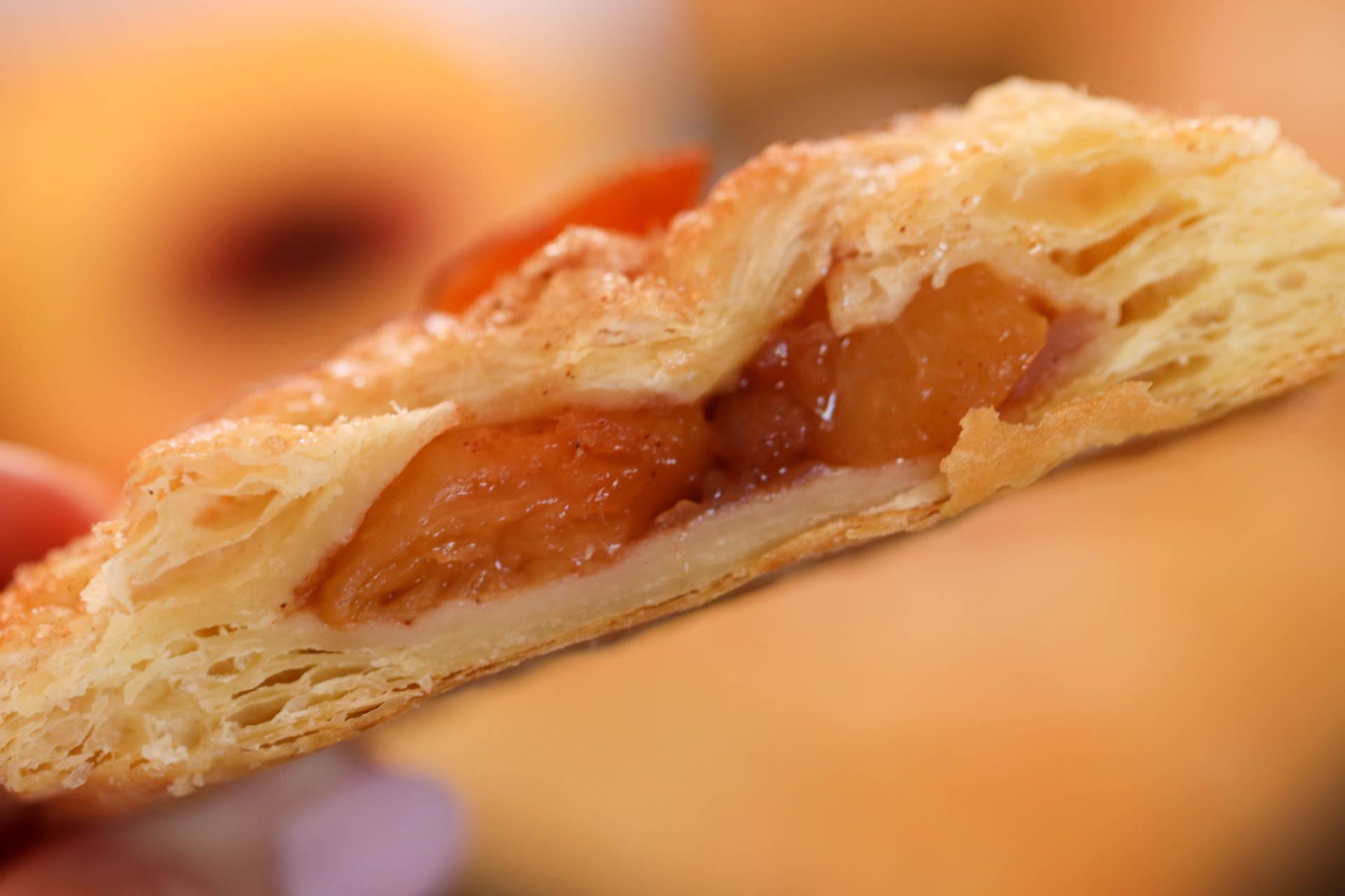 Half of a Baked Peach Hand Pie
