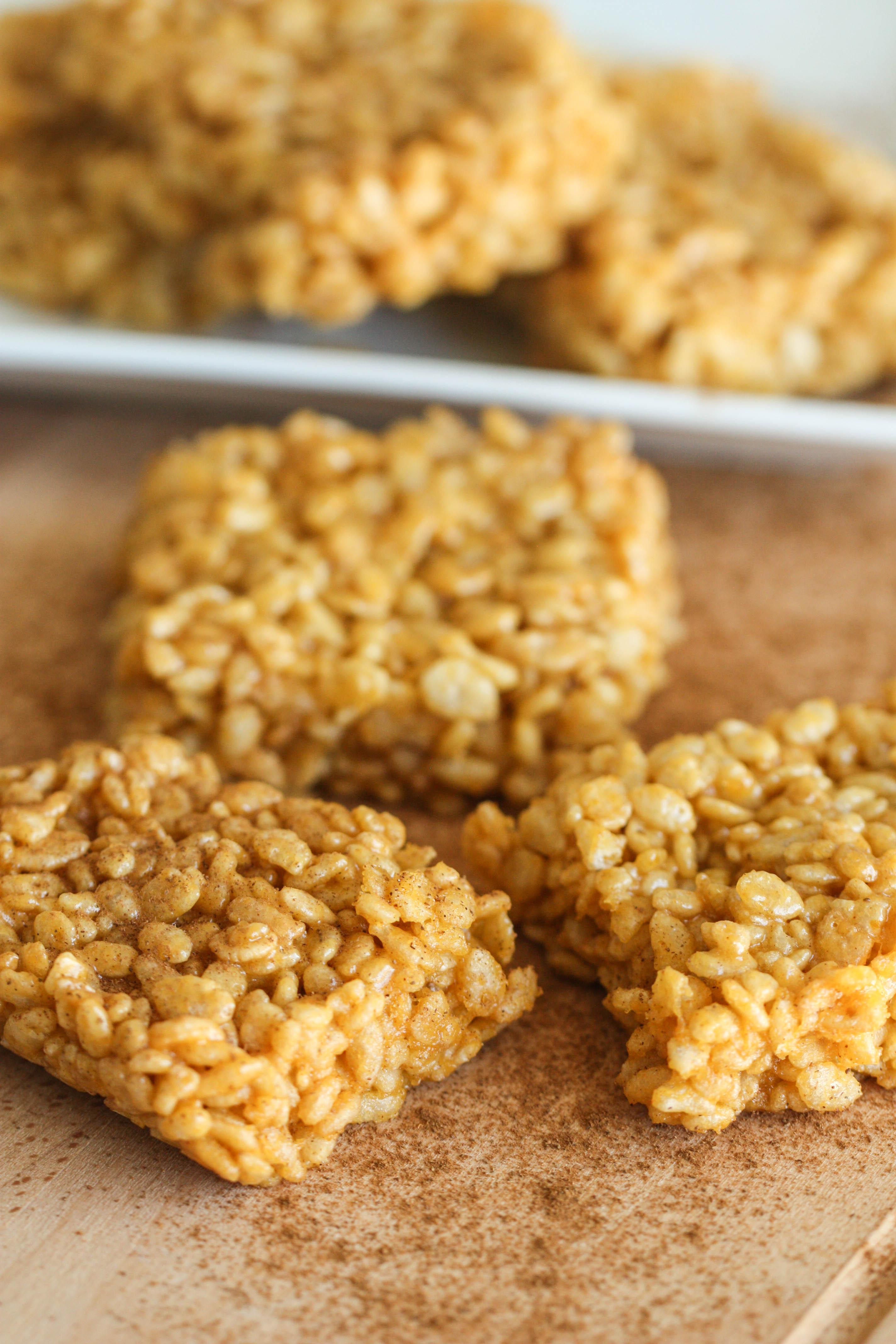 Pumpkin Spice Rice Krispies