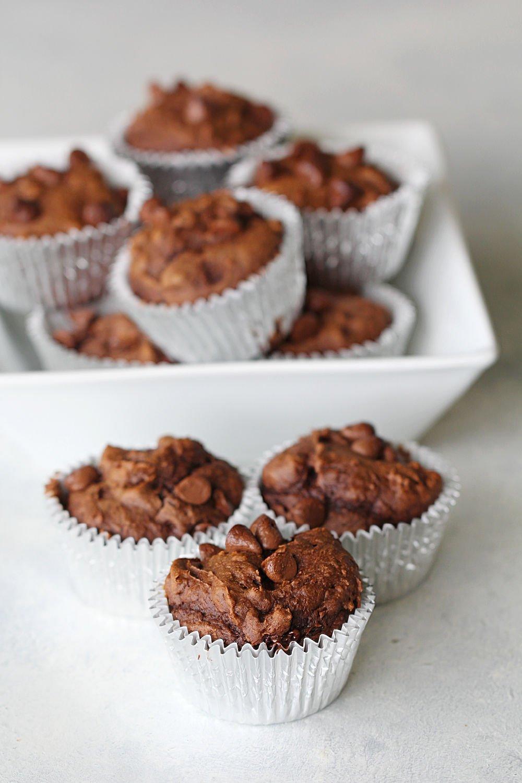 Chocolate Pumpkin Muffins Recipe (Only 3 ingredients!)