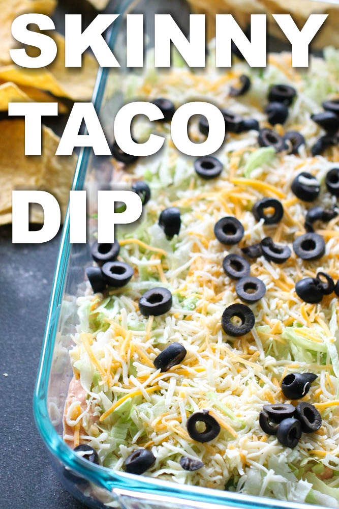 Skinny Taco Dip picture with Text