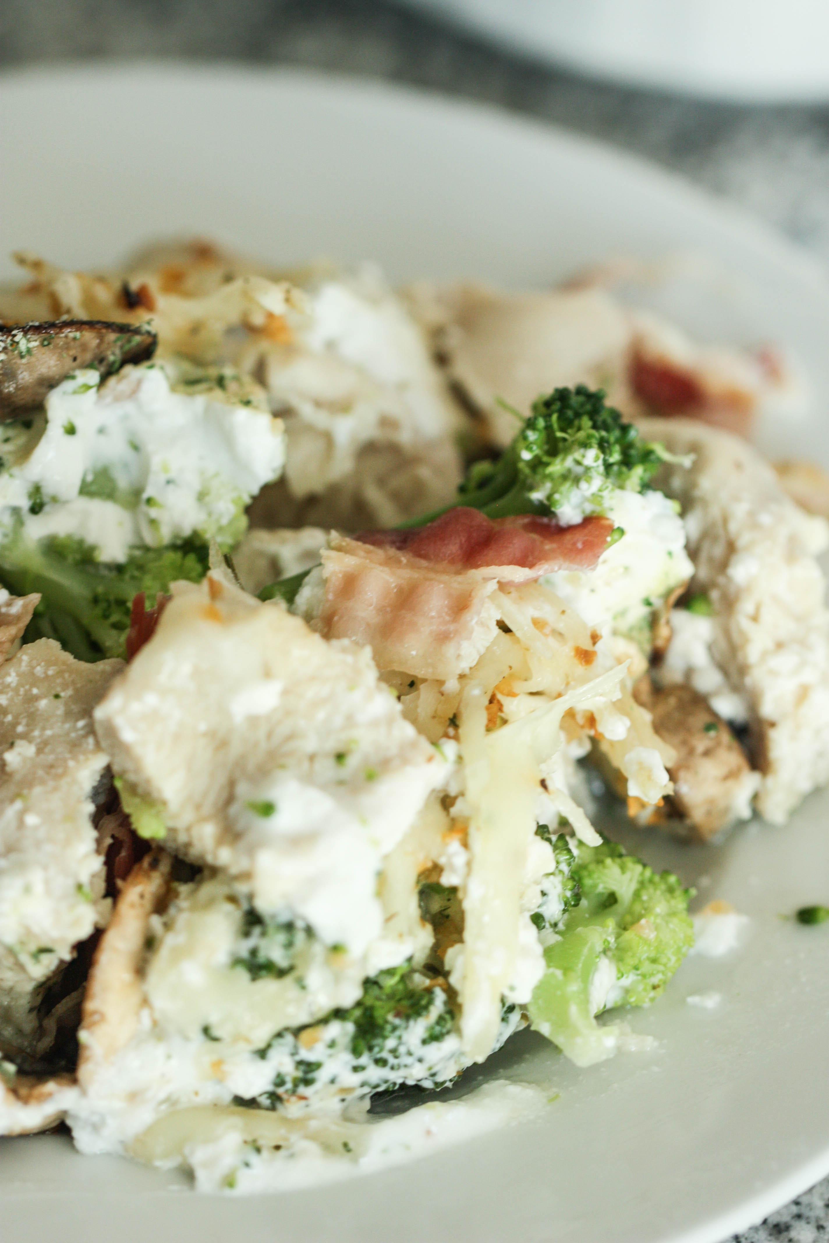 Chicken Broccoli Bacon Bake
