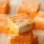 Orange Creamsicle Fudge Stacked