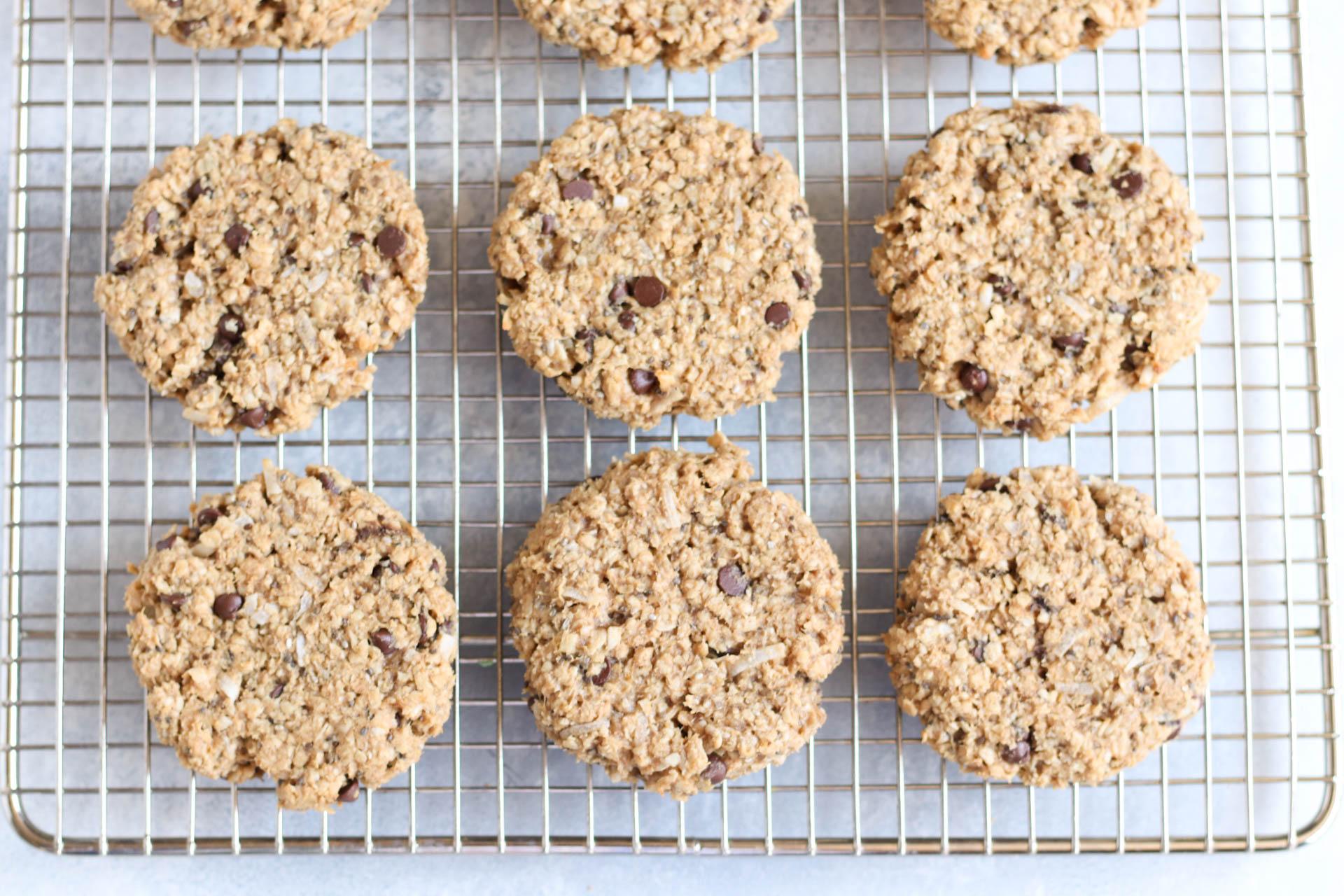 Breakfast Cookies on a cooling rack