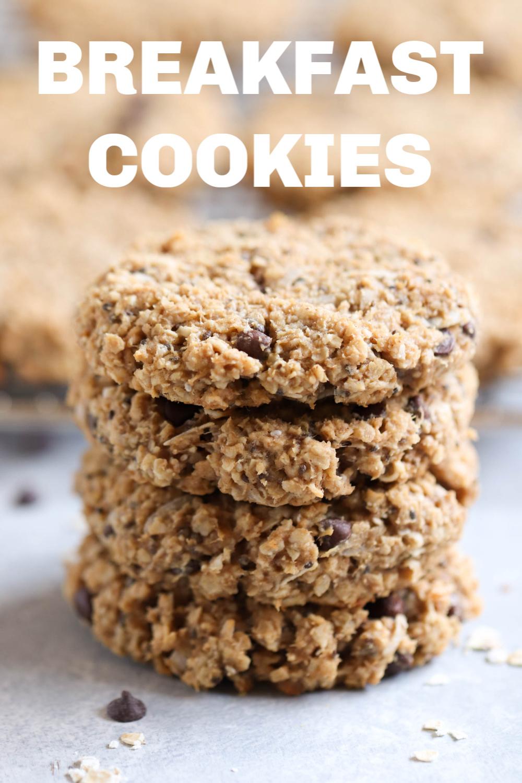 Breakfast Cookies stacked