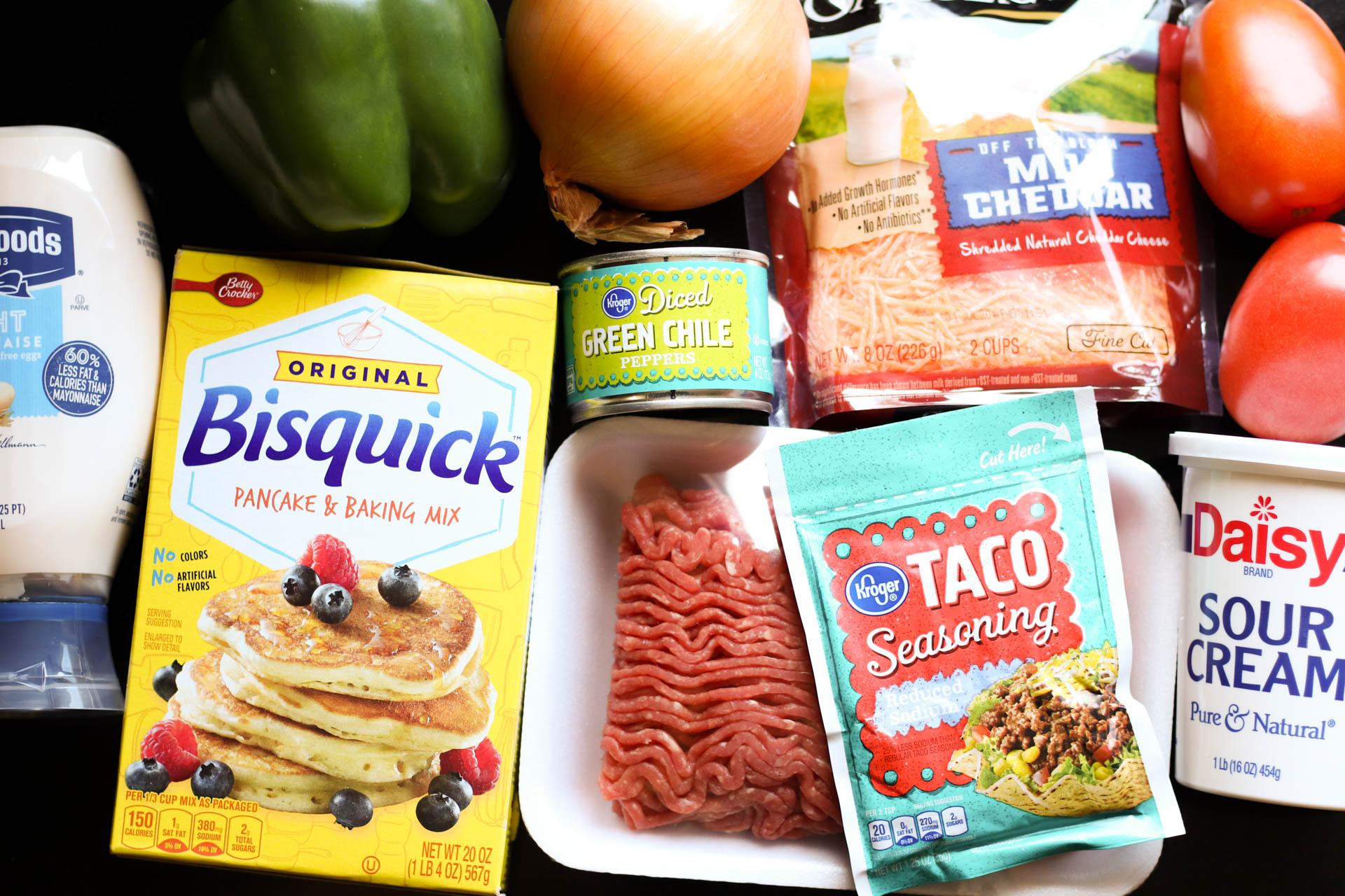 Ingredients for John Wayne Casserole