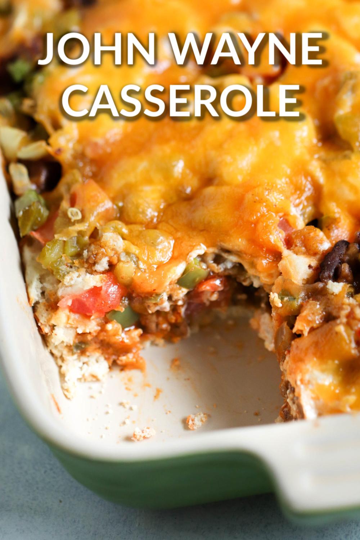 John Wayne Casserole (Beef and Biscuit Casserole)