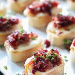 Cranberry Bacon Jam Crostini