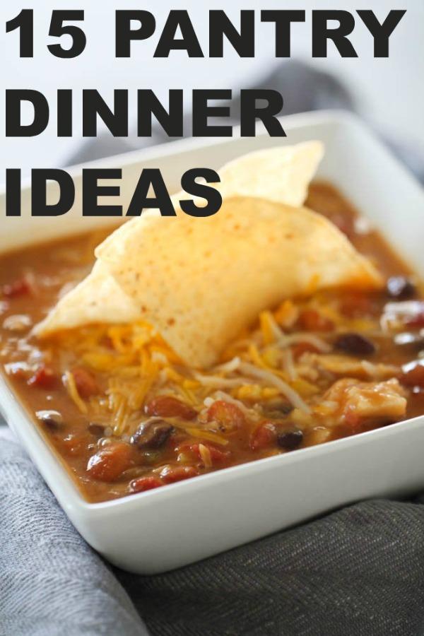 15 Pantry Dinner Ideas