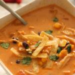 Instant Pot Creamy Chicken Enchilada Soup