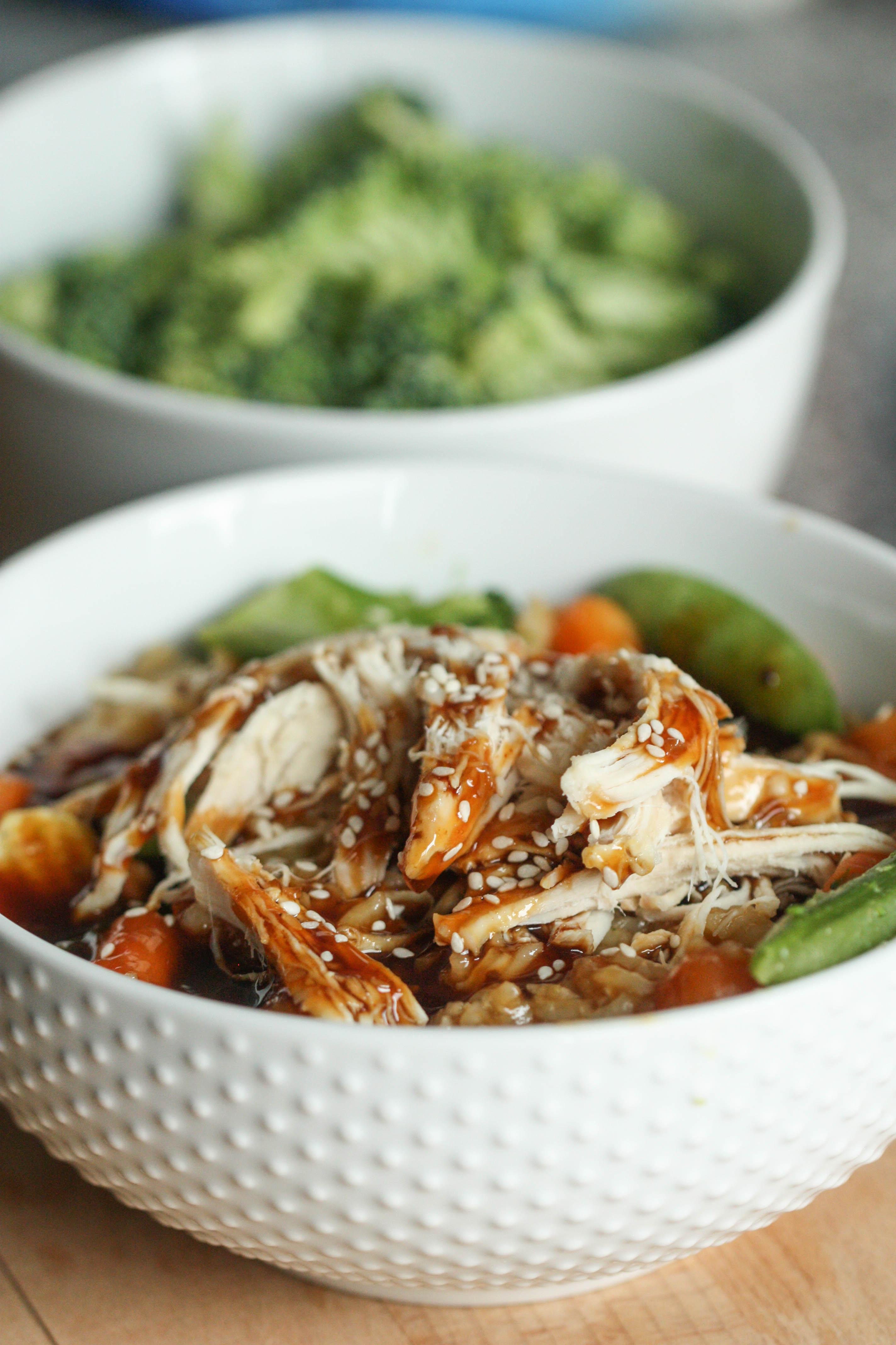 instant pot chicken teriyaki bowls