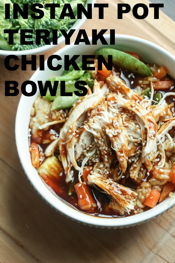 instant pot teriyaki chicken with title text