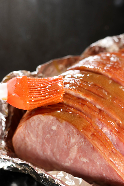 Glazing Honey Ham in the Instant Pot
