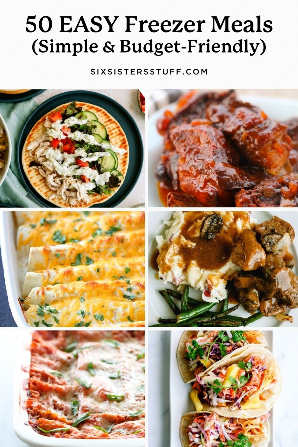 50 Delicious and Easy Freezer Meal (Simple and Budget-Friendly) Recipes