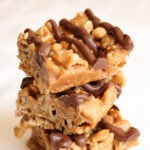 No Bake Peanut Butter Chex Bars