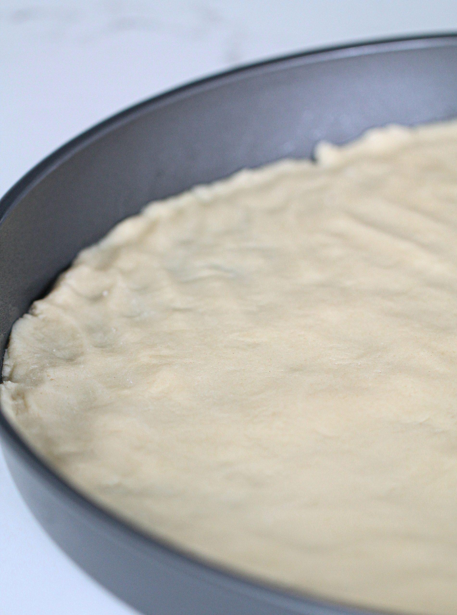 Sugar Cookie crust in pan
