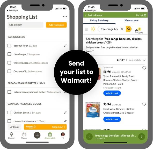 Send Your List to Walmart