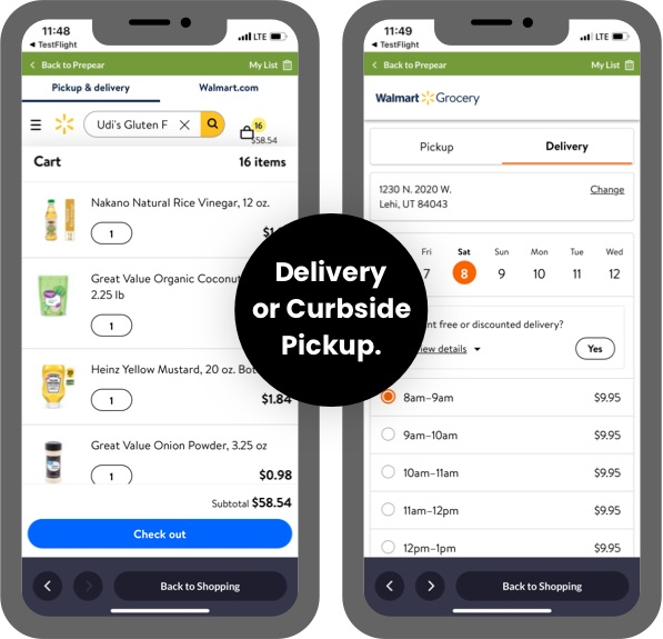 Delivery or Curbside Pickup