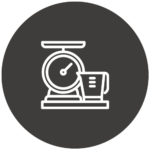 Scale and measuring cup icon