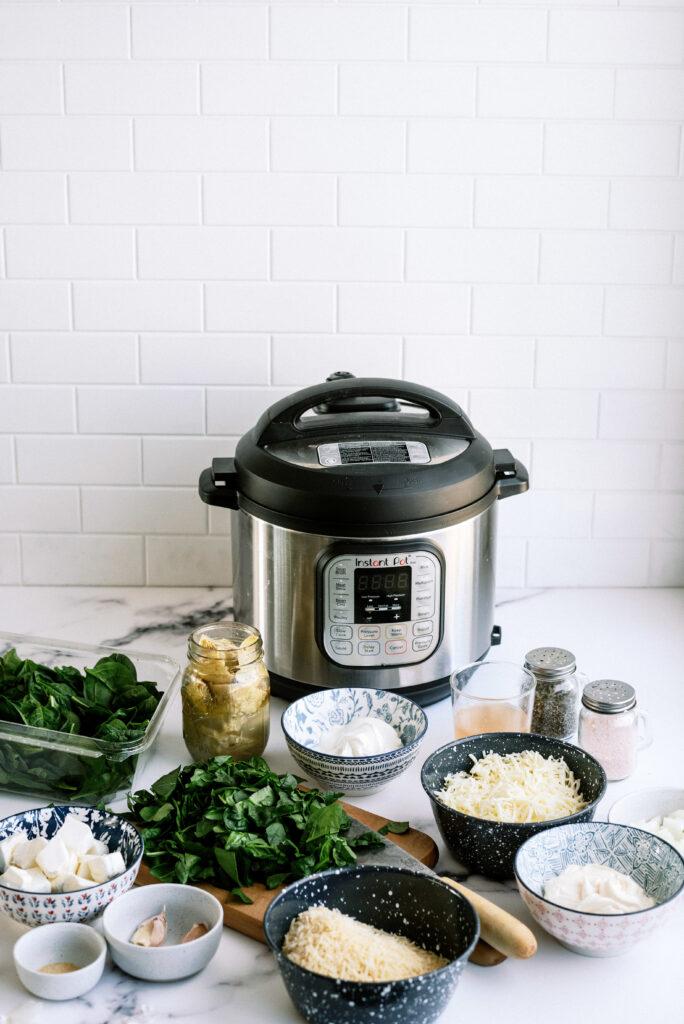 Instant Pot Spinach Artichoke Dip Ingredients