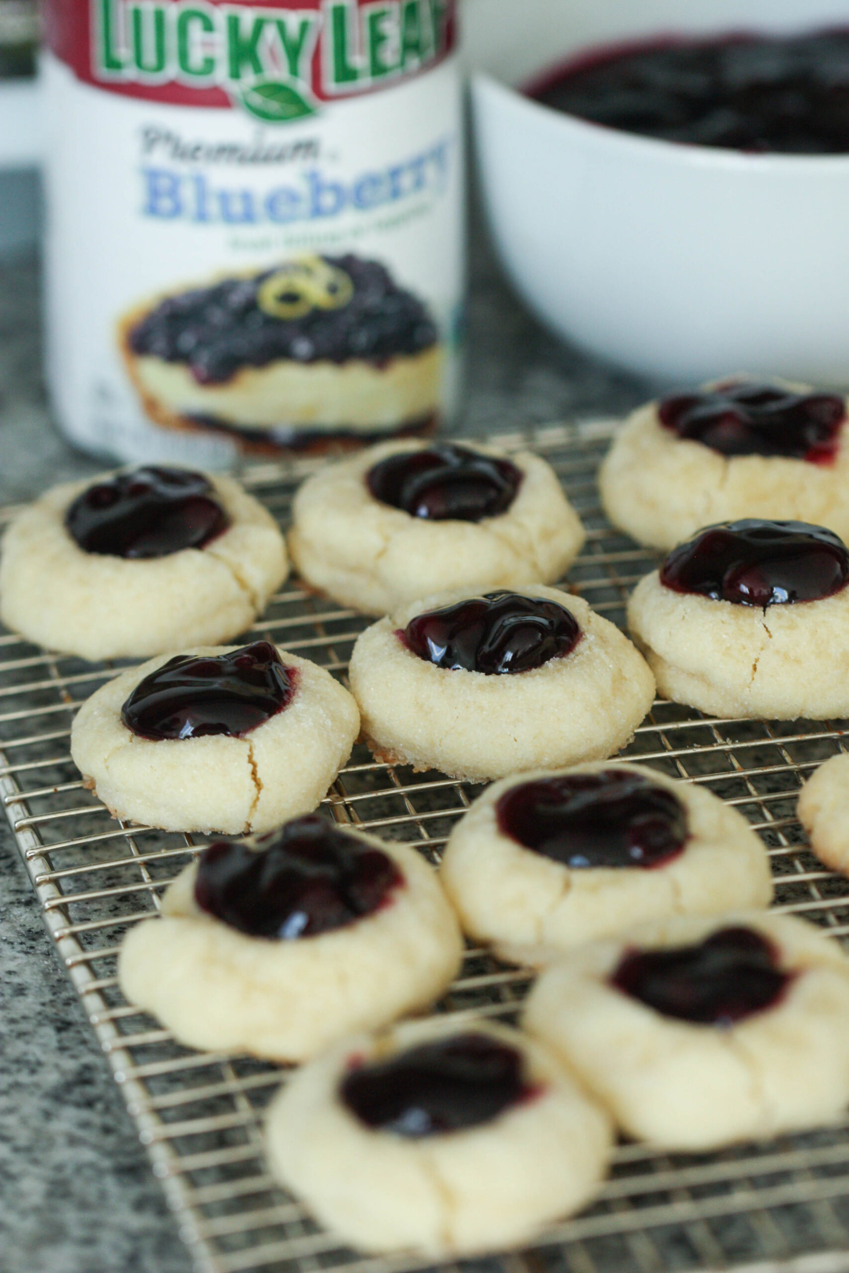 Blueberry Thumbprint Cookies Recipe with Lucky Leaf Pie Filling